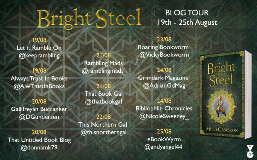 Bright Steel blog tour graphic